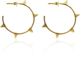 Eliza J Bautista Rock Chic Studded Hoop Earrings In 18K Gold Vermeil