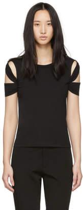 Helmut Lang Black Bondage Sleeve T-Shirt