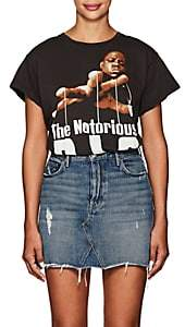"Madeworn Women's ""The Notorious B.I.G."" Distressed Cotton T-Shirt - Black"