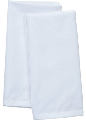 Mainstays 2-Pack Solid Fabric Napkin, White