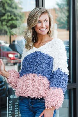 Blu Pepper Mountain Air Colorblock Sweater