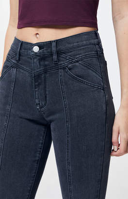 PacSun Yoked Black Super High Waisted Jeggings