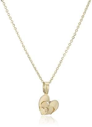TreEsse Italian 10k Gold Heart Pendant Necklace