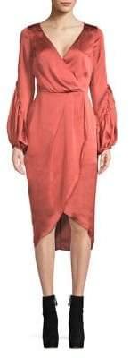 Cooper St Bishop-Sleeve Surplice Dress