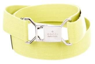 Gucci Grosgrain Logo Belt