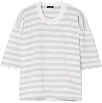 Bassike Striped Organic Cotton-jersey T-shirt - Gray