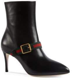 Gucci Sylvie Leather Point Toe Booties