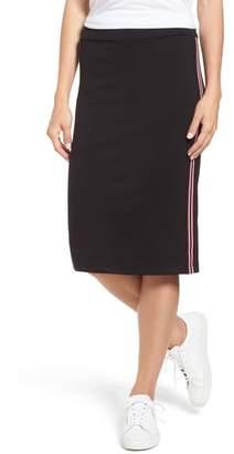 Gibson Side Stripe Knit Midi Skirt