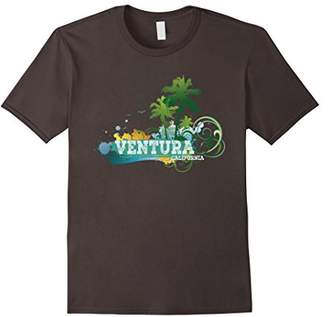 Ventura California T-shirt Palm Trees Sunset Beach Vacation