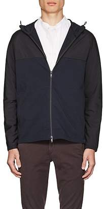 Theory Men's Tech-Fabric and Cotton Terry Hooded Jacket