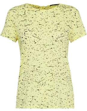 Proenza Schouler Tie-Back Printed Slub Cotton-Jersey T-Shirt