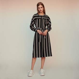 Maje Striped shirt dress