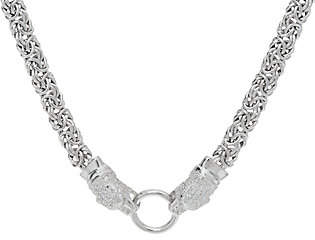 """Italian Silver Panther 20"""" Byzantine NecklaceSterling, 29.0g"""