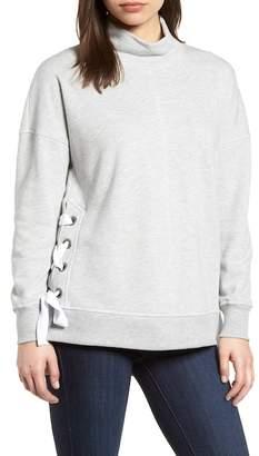 Gibson Side Tie High Neck Sweatshirt