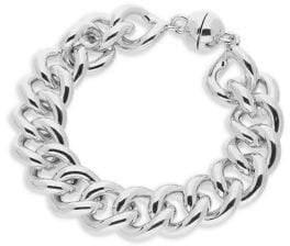 Gold and Honey Sterling Silver Curb Link Bracelet