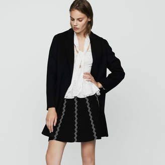 Maje Double-faced wool coat