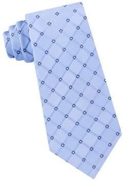 Black & Brown Black Brown Grid-Print Silk Tie