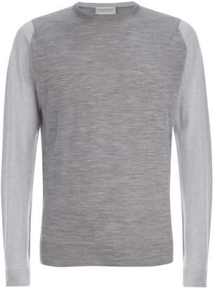 John Smedley Contrast Sleeve Sweater