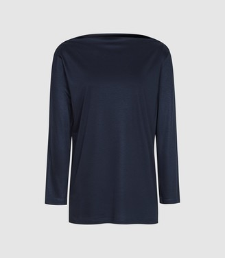Reiss Marilyn - Straight Neck Top in Navy