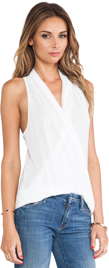 James Perse Drape Front Tank