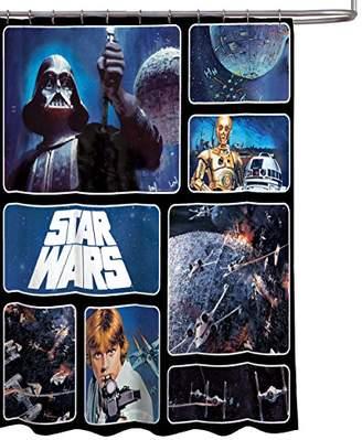 "Star Wars Classic Saga 72"" x 72"" Fabric Shower Curtain With Darth Vader"