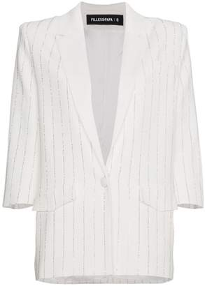 Filles a papa crystal striped blazer