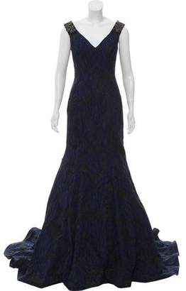 Jovani Embellished Train Gown w/ Tags