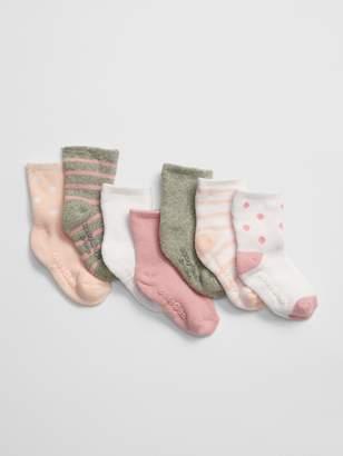 Gap Baby Print Crew Socks (7-Pack)
