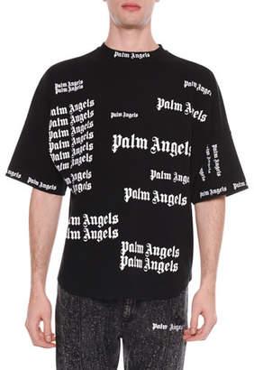 Palm Angels Men's Ultra Logo Over T-Shirt