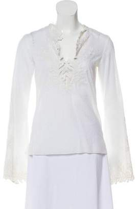 Andrew Gn Embroidered Broderie Anglaise Top