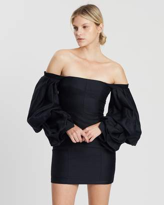 Asilio Off-Shoulder With Volume Long Sleeve Dress