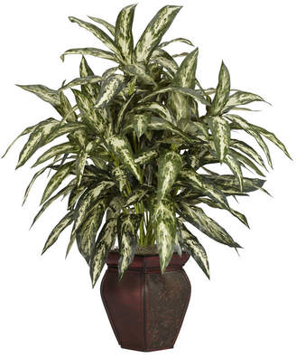 Asstd National Brand Nearly Natural Aglonema With Decorative Vase Silk Plant