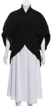 Givenchy Short Sleeve Button Up Blazer