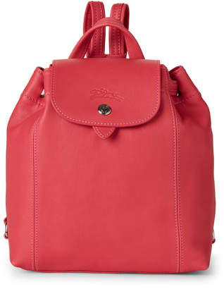 Longchamp Pink Le Pliage Cuir Backpack