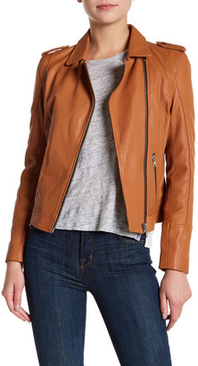 Doma Waxy Lamb Nappa Leather Jacket $598.40 thestylecure.com