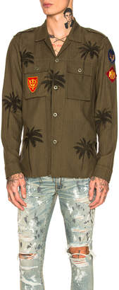 Amiri Palm Military Shirt