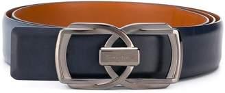 Santoni double buckle belt
