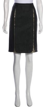Nina Ricci Embellished Knee-Length Skirt grey Embellished Knee-Length Skirt