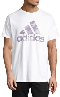 adidas Bos Lenitcular Short Sleeve Crew Neck T-Shirt-Athletic