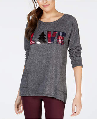 Style&Co. Style & Co Petite Love Graphic-Print Sweatshirt