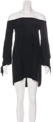 Amanda Uprichard Off-The-Shoulder Mini Dress