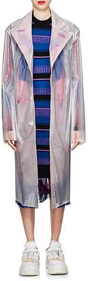 Maison Margiela Women's Iridescent Sheer Polyurethane Trench Coat