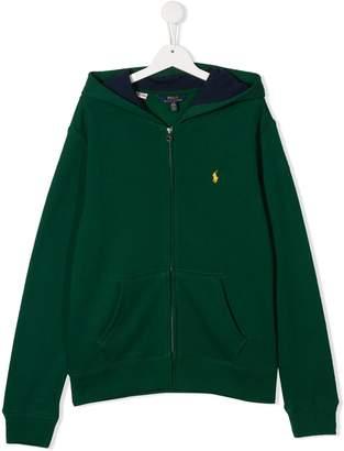 Polo Ralph Lauren TEEN logo zipped hoodie
