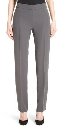 Women's Armani Collezioni Side Zip Techno Cady Pants $595 thestylecure.com