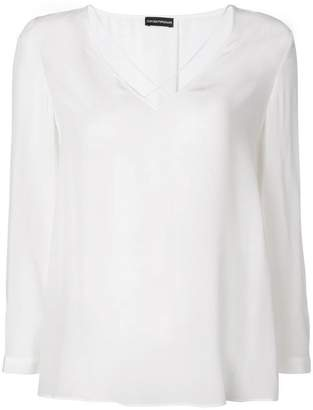 Emporio Armani classic shift blouse