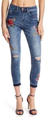 NANETTE nanette lepore Embroidered Floral Jeans