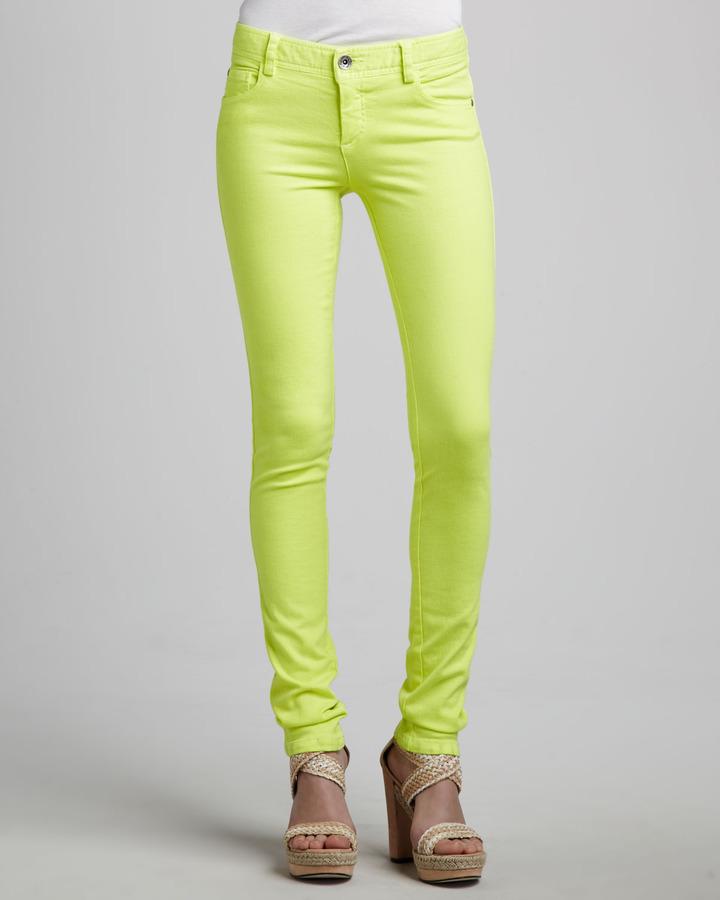 Alice + Olivia Neon Skinny Jeans