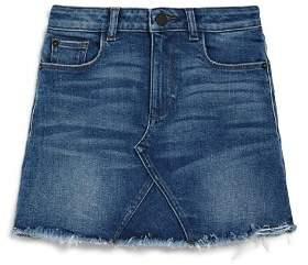 DL1961 Girls' Frayed Denim Skirt - Big Kid