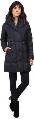 Cole Haan Bib Front Down Coat with Oversized Shawl Collar Women's Coat