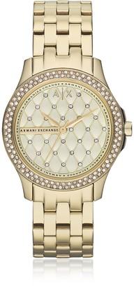 Armani Exchange Lady Hampton Gold Tone Women's Watch